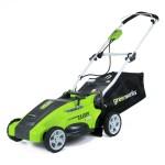 "GreenWorks 25142 10 Amp Corded 16"" Lawn Mower"