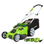 """GreenWorks 25302 Twin Force G-MAX 20"""" 40V Cordless Lawn Mower"""