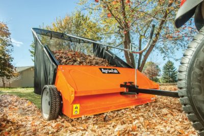 cleaning up yard debris and dried leaves